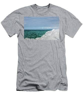 Stunning Turquoise, Green, And Blue Men's T-Shirt (Athletic Fit)