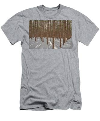 Sunlight Filtering Through A Pine Forest Men's T-Shirt (Athletic Fit)