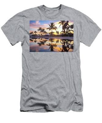 Sunrise Cyclist Delray Beach Florida Men's T-Shirt (Athletic Fit)