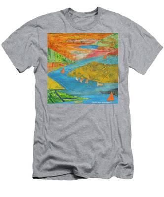 Sunset Sails 1 Men's T-Shirt (Athletic Fit)