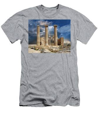 Temple Of Athena Men's T-Shirt (Athletic Fit)