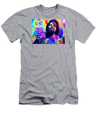The Dude The Big Lebowski Jeff Bridges Men's T-Shirt (Athletic Fit)
