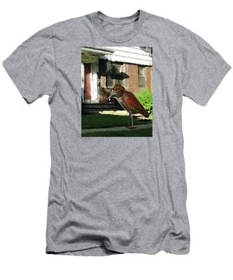Men's T-Shirt (Athletic Fit) featuring the digital art The Neighbor Lady by Teresa Epps