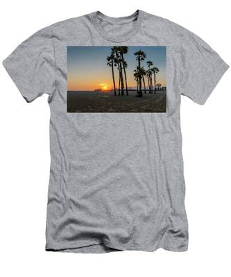 The Pier At Sunset Men's T-Shirt (Athletic Fit)