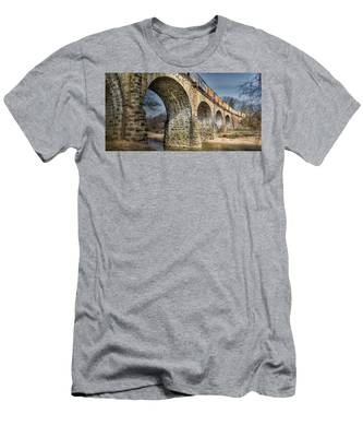 Men's T-Shirt (Athletic Fit) featuring the photograph Thomas Viaduct Panoramic by Dennis Dame