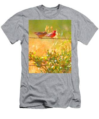 Two Birds On A Wire Men's T-Shirt (Athletic Fit)