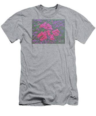 Two Layer Bougainvillea Men's T-Shirt (Athletic Fit)