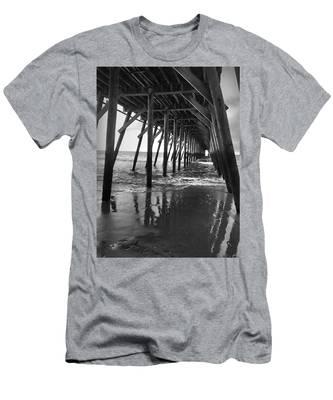 Under The Pier At Myrtle Beach Men's T-Shirt (Athletic Fit)