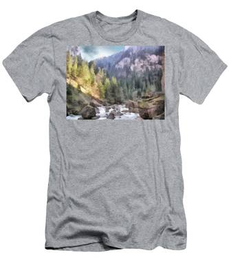 Valley Of Light And Shadow Men's T-Shirt (Athletic Fit)