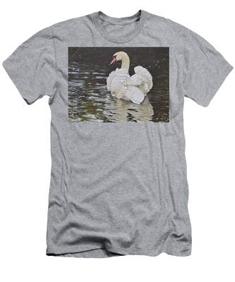 White Swan Men's T-Shirt (Athletic Fit)