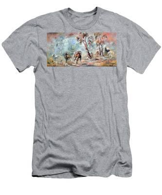 Wild Brumbies Men's T-Shirt (Athletic Fit)