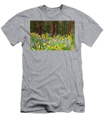 Balsamroot And Lupine In A Ponderosa Pine Forest Men's T-Shirt (Athletic Fit)