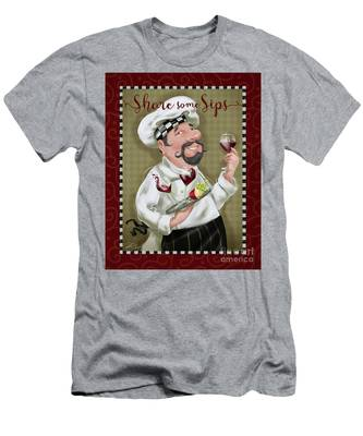 Wine Chef-share Some Sips Men's T-Shirt (Athletic Fit)