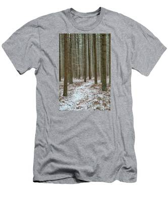 Winter's Trail Men's T-Shirt (Athletic Fit)