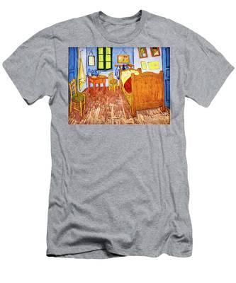 Van Gogh's Bedroom Men's T-Shirt (Athletic Fit)
