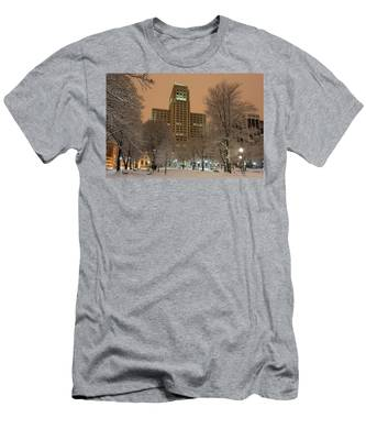 Men's T-Shirt (Athletic Fit) featuring the photograph Alfred E. Smith Building by Brad Wenskoski