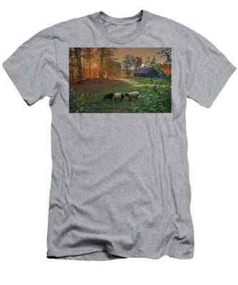 Autumn Sunset At The Old Farm Men's T-Shirt (Athletic Fit)