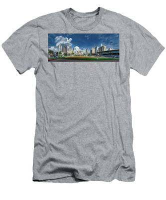 Bbt Baseball Charlotte Nc Knights Baseball Stadium And City Skyl Men's T-Shirt (Athletic Fit)