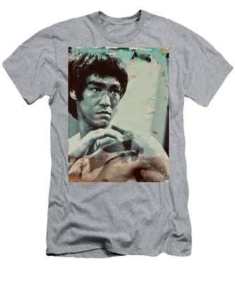 Bruce Lee Men's T-Shirt (Athletic Fit)