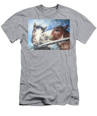 Clydesdale Pair Men's T-Shirt (Athletic Fit)