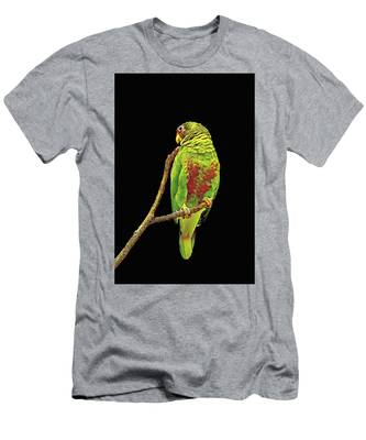 Colorful Parrot Men's T-Shirt (Athletic Fit)