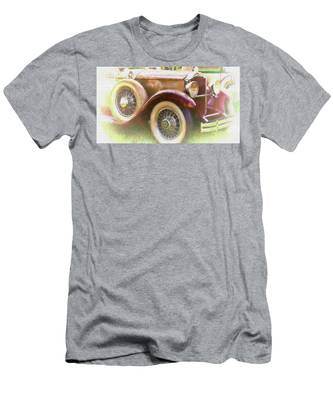 Men's T-Shirt (Athletic Fit) featuring the photograph Cruise Into Tomorrow With Yesterday's Wheels by Ola Allen