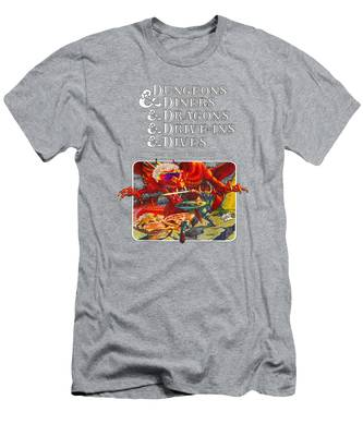 Dungeons /& Diners /& Dragons /& Drive-Ins Mens Short Sleeve T-Shirt Black Tee Gift