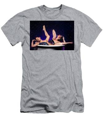 Men's T-Shirt (Athletic Fit) featuring the photograph Achelois And Sister Bathing In The Galaxy by Dennis Dame