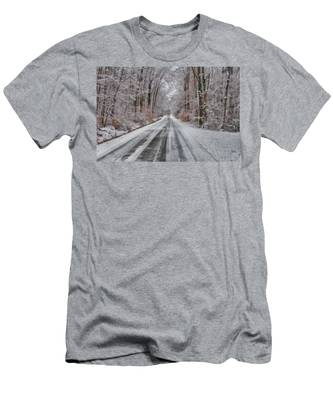 Frozen Road Men's T-Shirt (Athletic Fit)