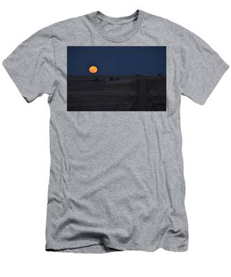 Men's T-Shirt (Athletic Fit) featuring the photograph Harvest Moon 2 by Carl Young