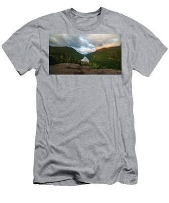 Indian Head Sunrise Men's T-Shirt (Athletic Fit) by Brad Wenskoski