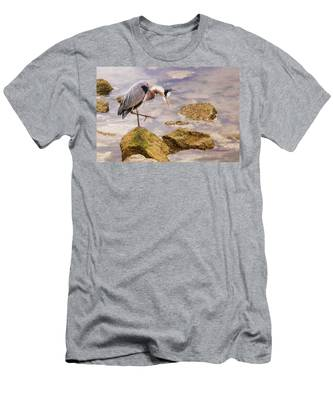 Men's T-Shirt (Athletic Fit) featuring the photograph One Step At A Time by Ola Allen