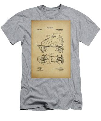 J. L. Plimpton, Roller Skate, Patented Dec.8,1908. Men's T-Shirt (Athletic Fit)