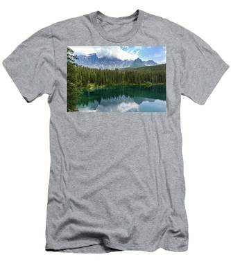 Karersee And Latemar Men's T-Shirt (Athletic Fit)