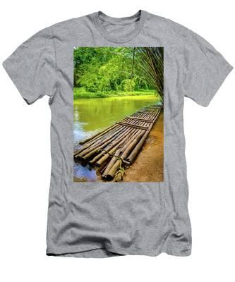 Martha Brae River Rafting Men's T-Shirt (Athletic Fit)