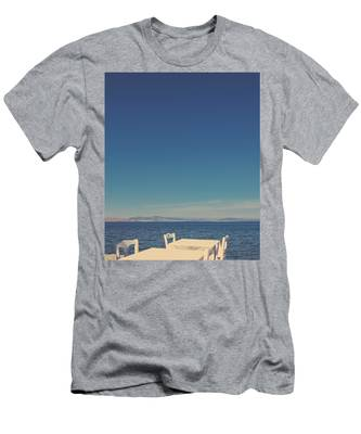 Men's T-Shirt (Athletic Fit) featuring the photograph Mediterranean Vacation V by Anne Leven