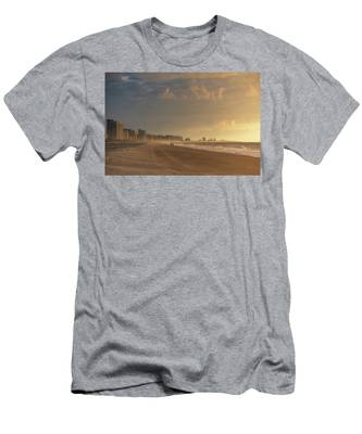 Men's T-Shirt (Athletic Fit) featuring the photograph Myrtle Sunrise by Brad Wenskoski