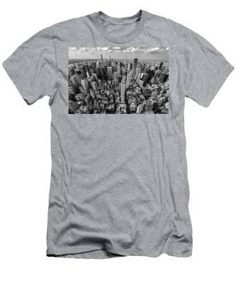 New York City Black White Men's T-Shirt (Athletic Fit)