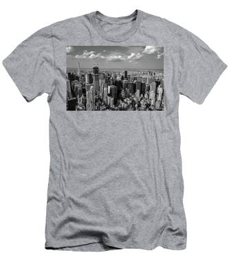 New York City Empire State Building Men's T-Shirt (Athletic Fit)