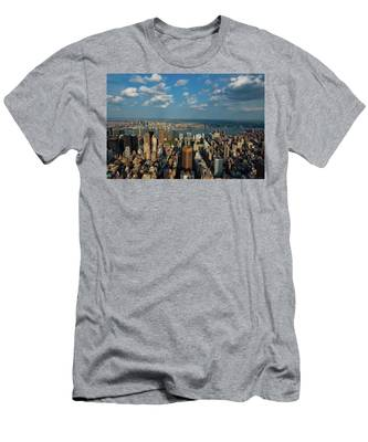 New York Skyline Empire State Men's T-Shirt (Athletic Fit)