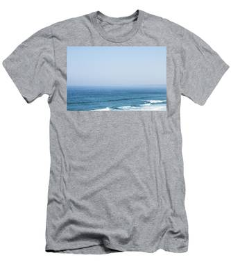 Men's T-Shirt (Athletic Fit) featuring the photograph Ocean View In Summer by Anne Leven