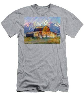 Old Wyoming Barn Men's T-Shirt (Athletic Fit)