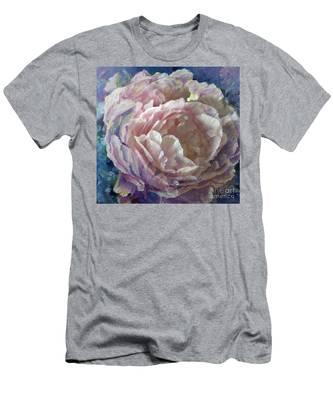 Peony -transparent Petals Men's T-Shirt (Athletic Fit)