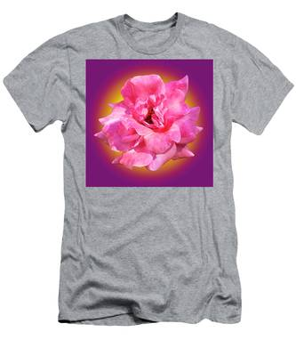 Pink Rose With Background Men's T-Shirt (Athletic Fit) by Howard Bagley