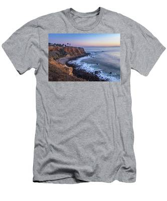 Point Vicente Lighthouse Long Exposure Men's T-Shirt (Athletic Fit) by Andy Konieczny