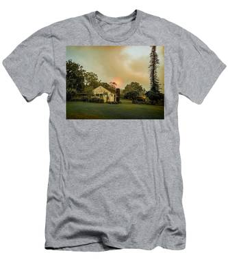 Sunrise Through The Haze Men's T-Shirt (Athletic Fit)