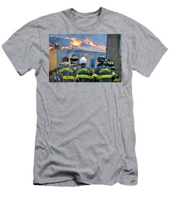 Men's T-Shirt (Athletic Fit) featuring the photograph The Crew by Carl Young