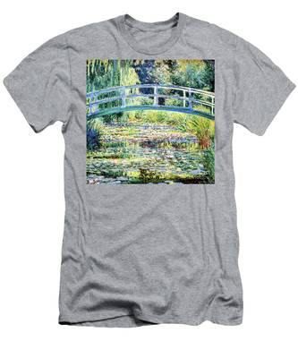 The Water Lily Pond By Monet Men's T-Shirt (Athletic Fit)