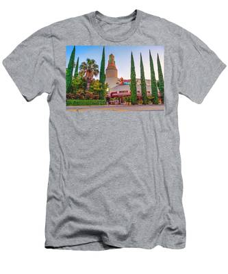 Tower Cafe Sunset- Men's T-Shirt (Athletic Fit)