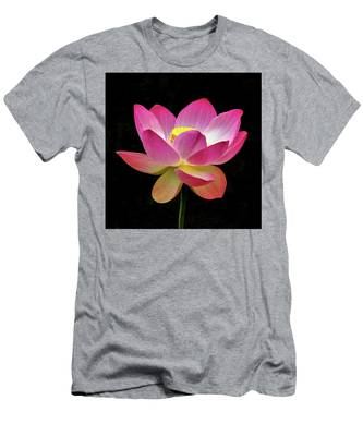 Water Lily In The Light Men's T-Shirt (Athletic Fit) by Howard Bagley